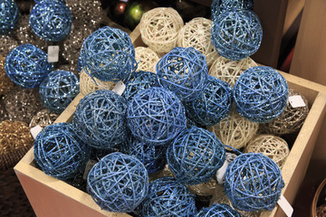 Blue and white ball for decoration