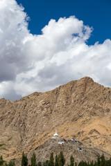 Tall Shanti Stupa in Leh, Ladakh, India