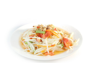 Papaya salad Thai food