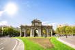 Obrazy na płótnie, fototapety, zdjęcia, fotoobrazy drukowane : Madrid, The Puerta de Alcala in sunny day.