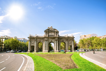 Madrid, The Puerta de Alcala in sunny day.