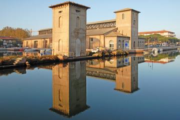 Cervia, Italy, the old Darsena salt store