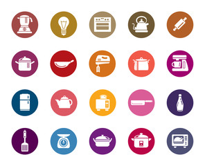 Kitchen Utensils Color Icons