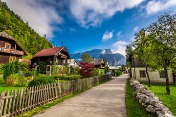 Small alley in the alpine village
