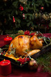 canvas print picture - Christmas Turkey In Wooden Tray