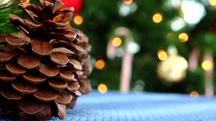 Christmas pine decor centerpiece and tree