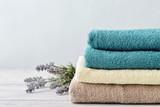Fototapety Stack of bath towels