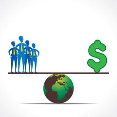 men and money compare design concept vector