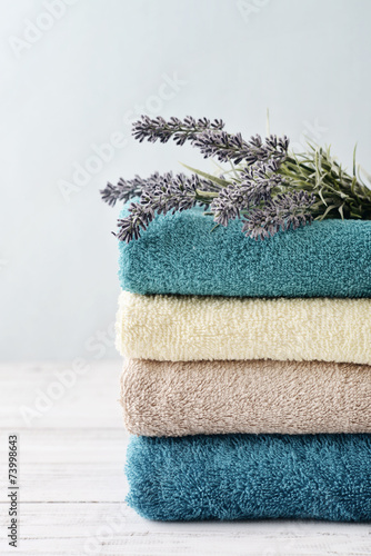 Towels with lavender - 73998643