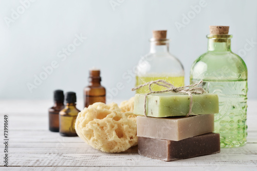 Stack of soap bars - 73998649