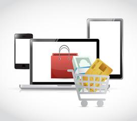 online shopping. electronics. illustration design