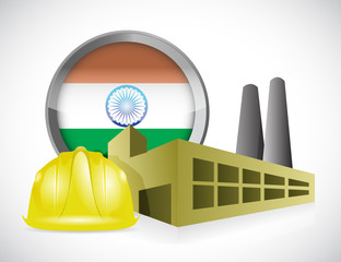 india factory illustration design