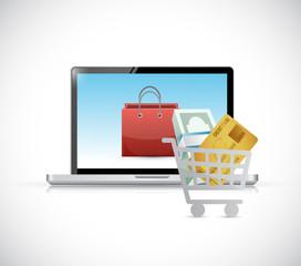online shopping. computer concept