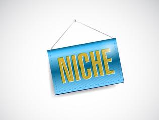 niche hanging sign illustration design