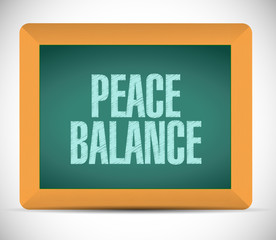 peace balance sign board. illustration