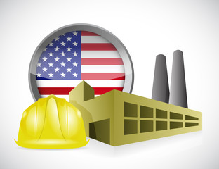 us factory concept illustration design
