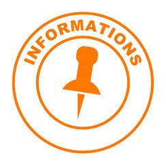informations sur bouton web rond orange