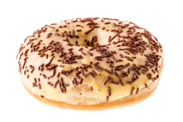 Donut with chocolate sprinkles