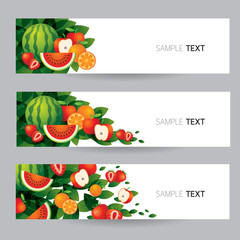 Mixed Fruits, Banner