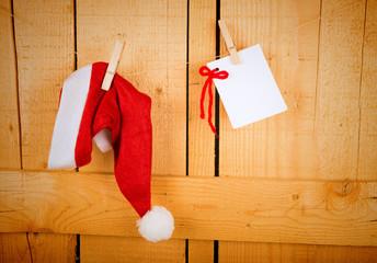 Wish list and Santa cap