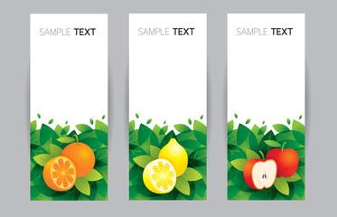 Orange, Lemon, Apple, Banner