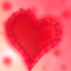 Red abstract background of color heart