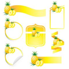 Label Set : Pineapple
