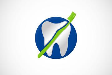 dental brush icon abstract logo vector
