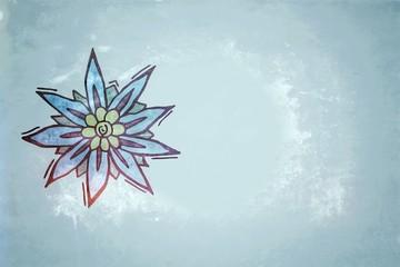 Edelweiss, Gebirgsblume - vintage background