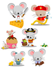 Mouse Vector Set