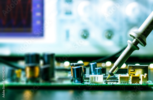 soldering of electronic circuit board - 74004288