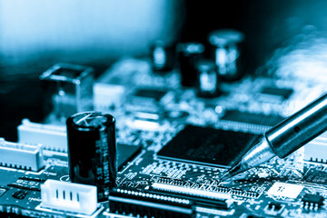 soldering of electronic circuit board