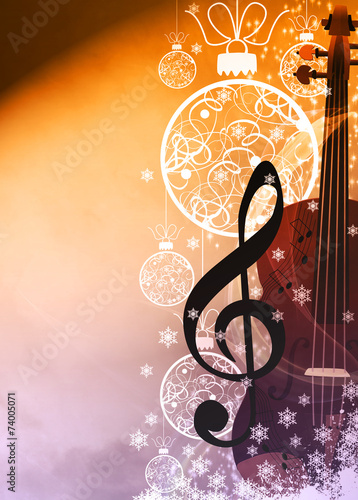 Chistmas music background - 74005071
