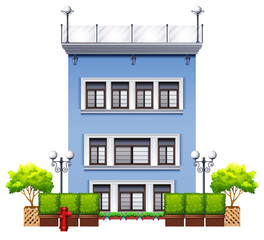 A tall commercial property