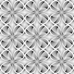 Design seamless monochrome decorative flower background
