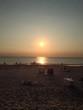 canvas print picture - Strand bei Sonnenuntergang