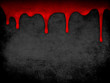 Red dripping blood grunge background - 74006233