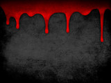 Red dripping blood grunge background