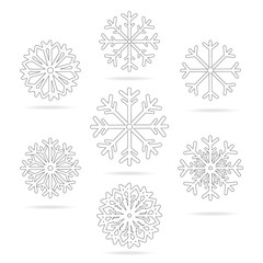 Isolated Snowflake