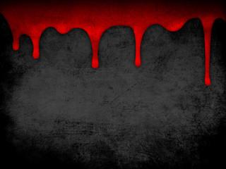 Red dripping blood grunge background