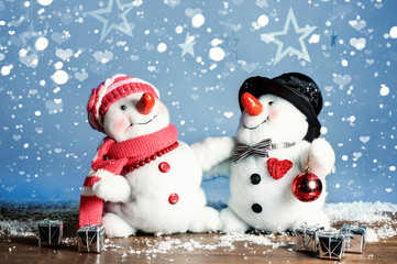 Two Snowmen - A lovely couple