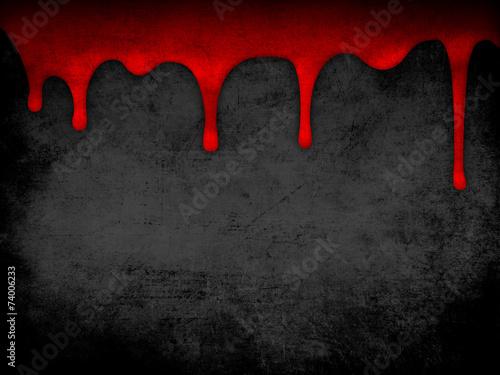 Leinwandbild Motiv Red dripping blood grunge background