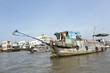 canvas print picture - Händlerboote im Mekong Fluß bei Cai B, Vietnam