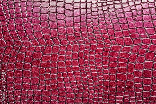 obraz lub plakat Czerwone tło wzór aligatora