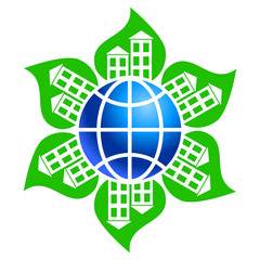 Good ecology with green leaves in every city in Earth