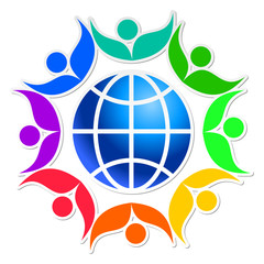 Community of people joined around the globe 9