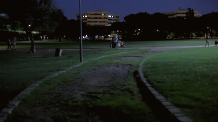 Background establishing shot park night 08