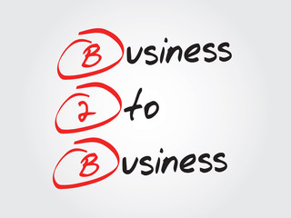Business To Business (B2B), vector concept acronym