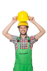 Industrial worker isolated on the white background