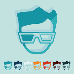 Flat design: 3d glasses